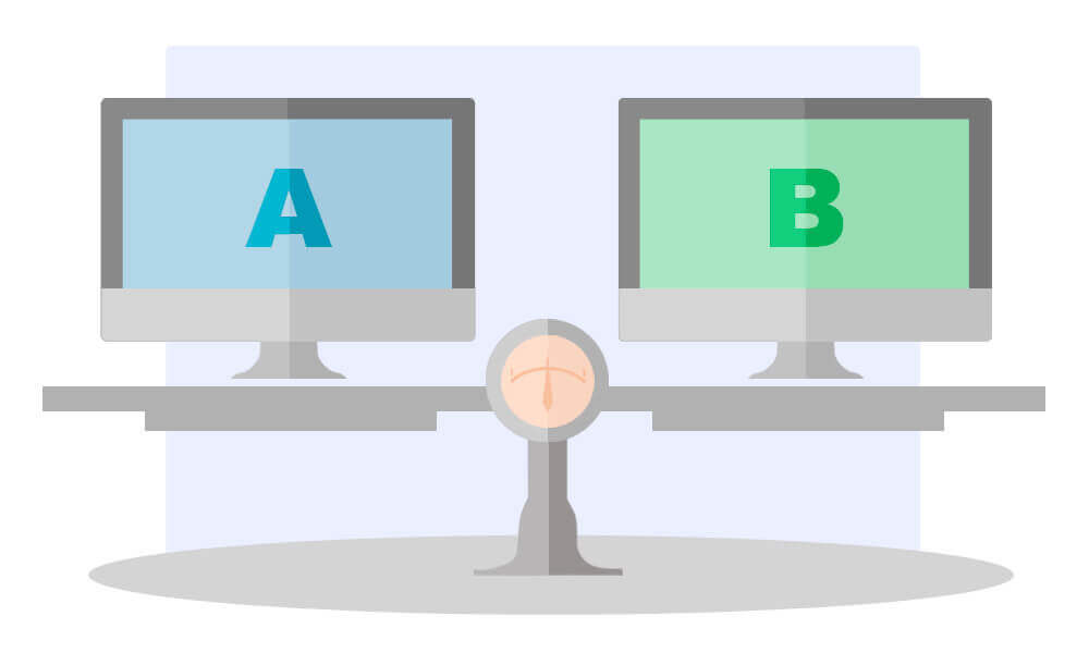 А-Б сплит тестирование конверсия лендинг пейдж